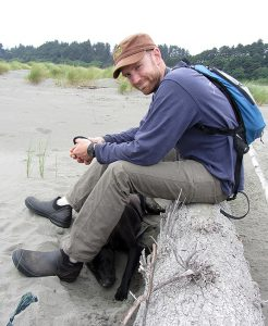 Colin Fiske at Clam Beach. Photo: Courtesy of Colin Fiske.