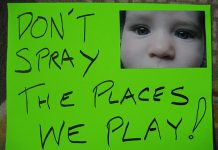 A protest sign against pesticide spraying from a San Francisco march in 2008. Photo: Kevin Krejci, Flickr CC.