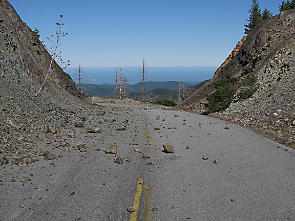 The 'Lost Highway' - the abandoned GO Road today. Photo: Michael Kauffman.