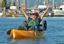 Robert Thoman kayaking on Humboldt Bay. Photo: Courtesy of Robert Thoman.