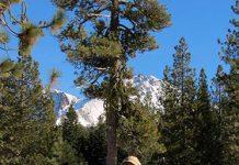 Ryan Henson snowshoeing in the Sierras.