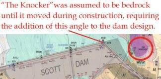 Scott Dam graphic from PG&E.
