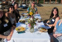 NEC staff and interns, and Jen Kalt from Humboldt Baykeeper, enjoying the 2017 summer party. Photo: Dan Sealy.