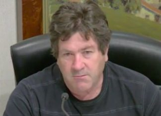 McKenny at a Humboldt County Planning Commission Meeting