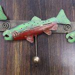 Metal salmon hanging coat rack.