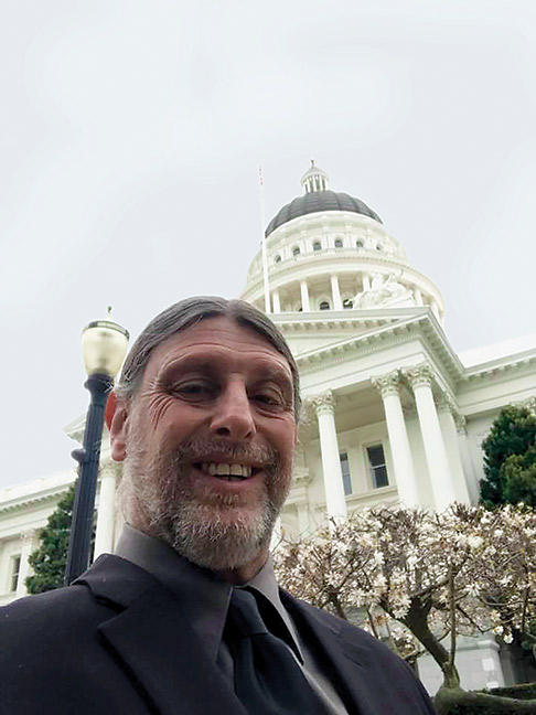 "Rob in his ""monkey suit"" at the California State Capital, March 7, 2018. Photo courtesy of Rob DiPerna."