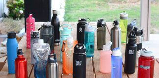 Reusable, refillable water bottles come in a variety of styles. Don't leave home without one! Photo: yourbestdigs, Flickr. com CC.