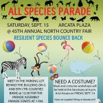 Flyer for the All Species Parade