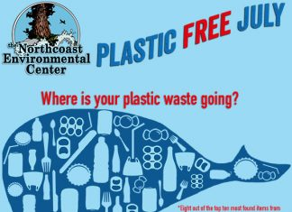Plastic Free July flyer.