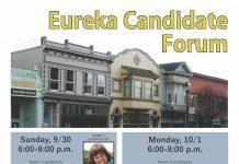 City of Eureka Candidate Forum Flyer 2018