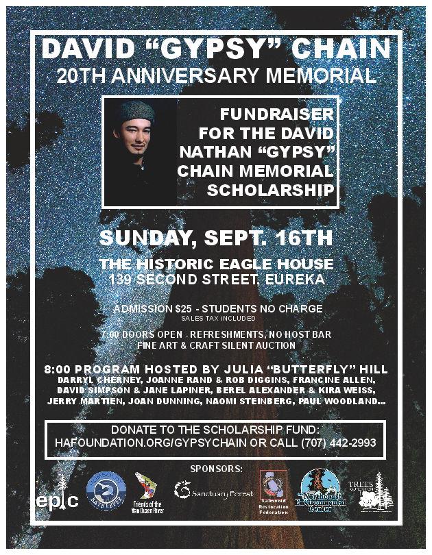 """DAVID """"GYPSY"""" CHAIN 20th Anniversary Memorial"""