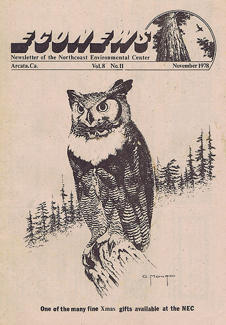 Cover of the November 1978 EcoNews.