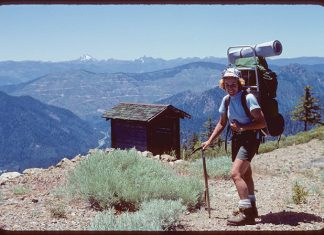 Teddi Boston, one of first women to hike the Pacific Crest Trail solo, in 1976. Submitted photo.