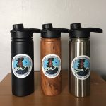 NEC logo water bottles, three styles available.
