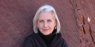 Terry Tempest Williams, press photo from her website www.coyoteclan.com. Photo: © Debra Anderson.