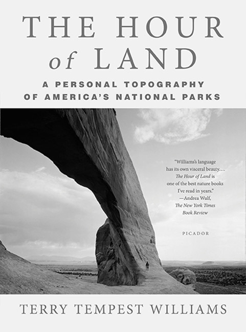 Cover image of The Hour of the Land, by Terry Tempest Williams.
