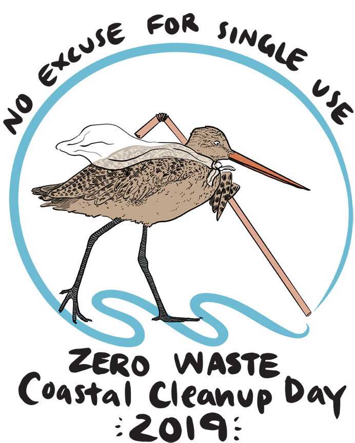 Custom artwork designed for our Zero Waste Coastal Cleanup Day, by Mir de Silva.