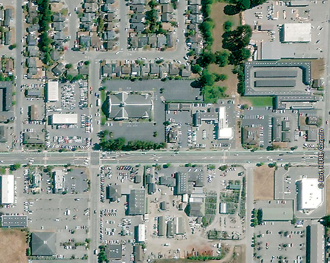 Aerial view of Central Ave. in McKinleyville. Image submitted by CRTP.