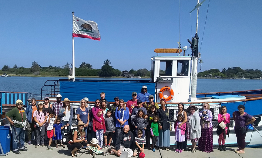 The Humboldt County Public Library's Summer Reading Tour offered an end-of-summer Baykeeper tour aboard the Madaket for participants and their families. Photo: Jennifer Kalt.