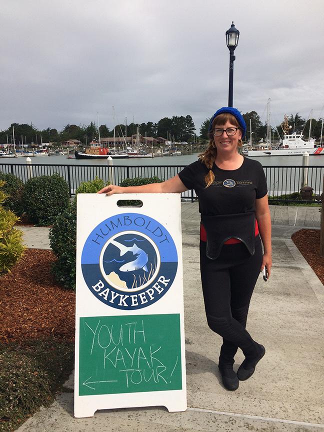 Jasmin Segura, Humboldt Baykeeper's Bay Tours Coordinator. Photo: Jen Kalt.